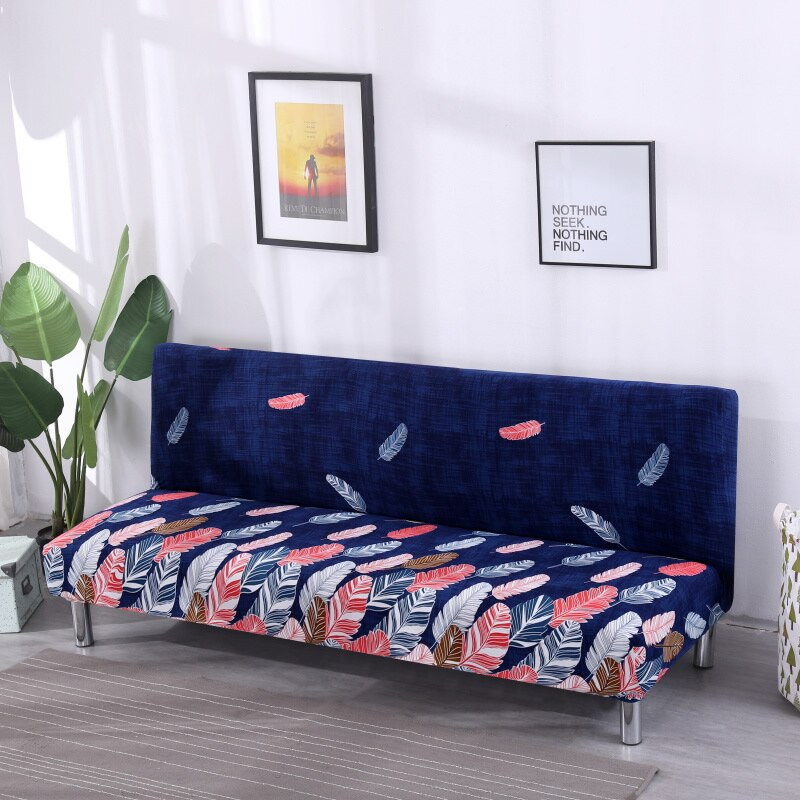 Universal Size Armless Sofa Bed Stretch Couch Protector Elastic Spandex Cover