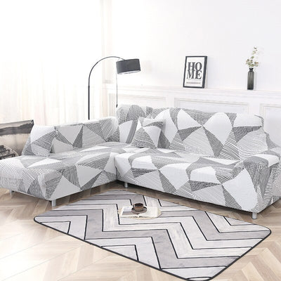 Big Elasticity Couch L Shape Stretch Sofa Cover