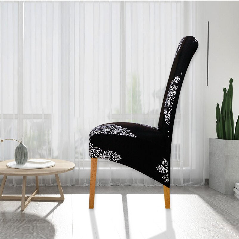 XL Printed Long Back Chair Cover