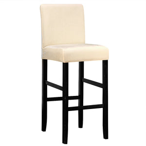 Velvet Fabric  High Stool Chair Protector Seat