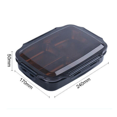 Portable Lunch Box Container with 3 Compartments