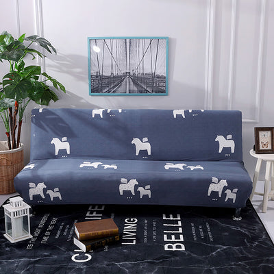 Universal Size Armless Elastic Printed Sofa Bed Cover