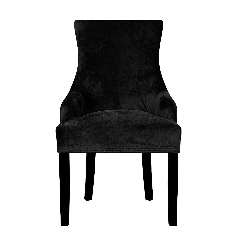 Real Velvet Fabric Sloping Arm Chair Cover
