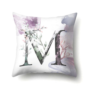 Nordic Alphabet Pillow case For Sofa
