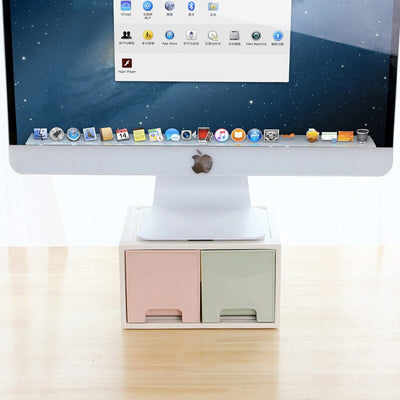 Office Desktop Monitors Stand With Drawer