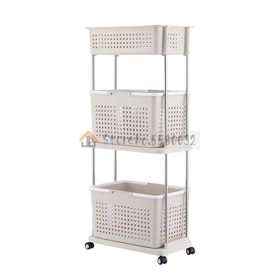 Dirty laundry basket bathroom storage rack