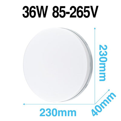 LED Panel Lights 6W 9W 13W 18W 24W 36W 48W AC85-265V Wide Range Round Square Nordic Simple Style SMD2835 For Bedroom Living Room