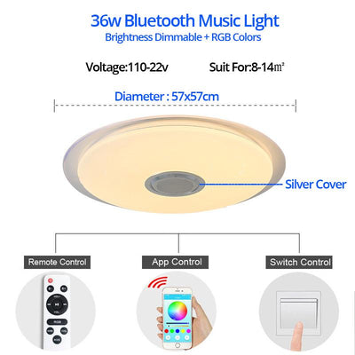 Music LED ceiling Lights RGB APP and Remote control