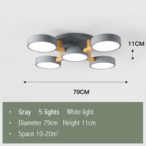 Modern Nordic Wood Ceiling Lights Fixtures