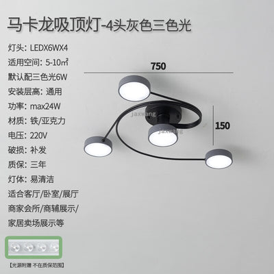 Nordic LED Iron Simple Ceiling Lights Fixtures