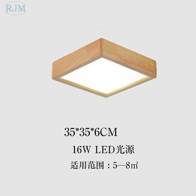 Japanese Solid Wood Ceiling Lamp