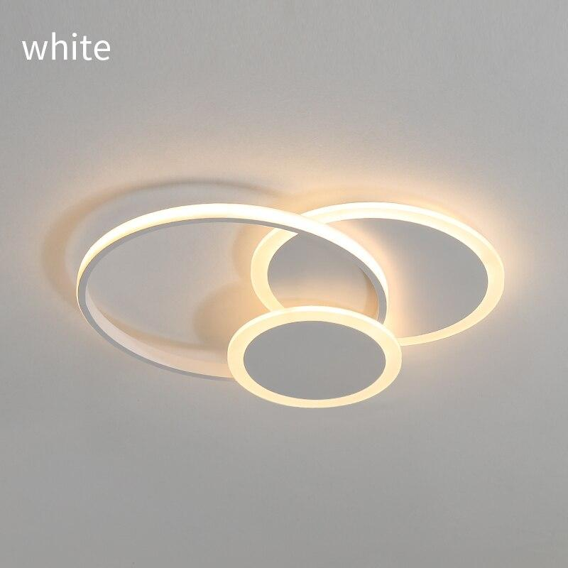 Modern LED ceiling dimmable lighting with remote control