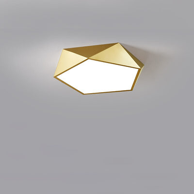 Nordic Wooden Gold Geometric Led Ceiling Light