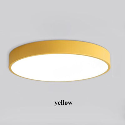 Nordic Minimalism Round Metal Led Ceiling Lights Fixtures