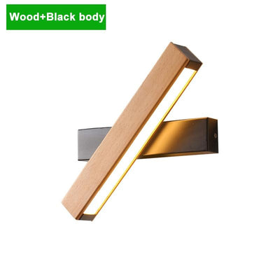 Nordic steering head Wooden modern led wall lights
