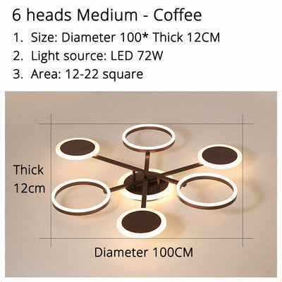 Circle ceiling mounted indoor lamps