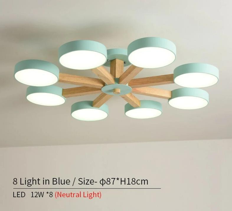 220V LED Simple Surface Mounted Chandelier