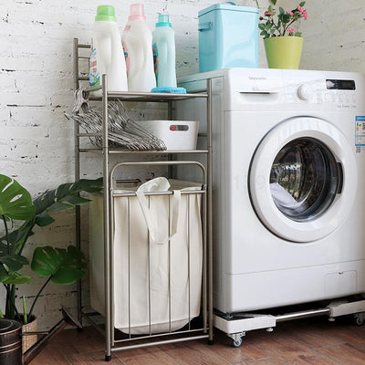 Bathroom laundry storage rack