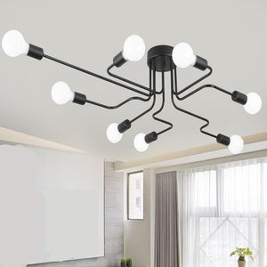 Vintage Industrial Loft Home Led Ceiling Lamp
