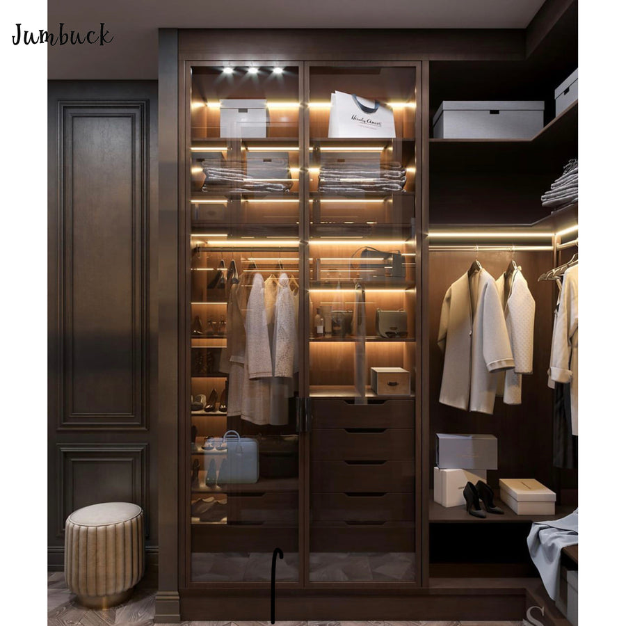 Custom Glass door Wardrobe Walk In Closet