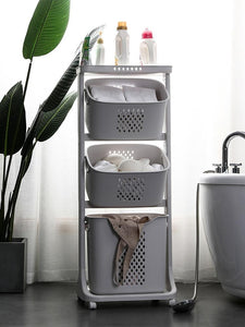 Dirty clothes storage basket bathroom