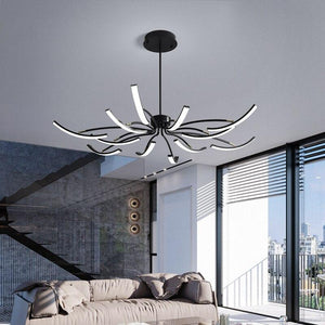 Matte Black/White Finished Modern Led Chandelier for living room
