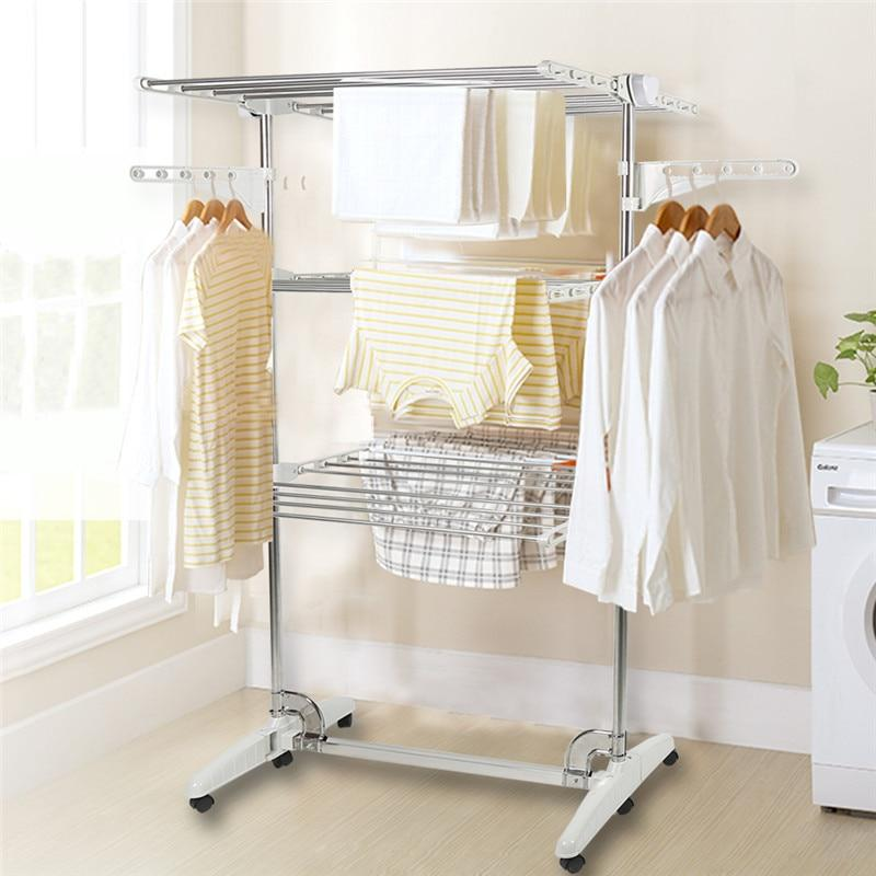 3-layer Movable Garment Rack Baby Clothes Hanger