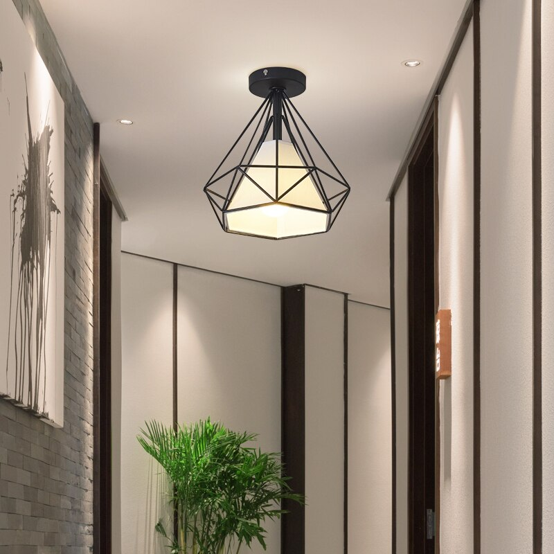 Nordic Minimalism Retro Iron Square Ceiling Light