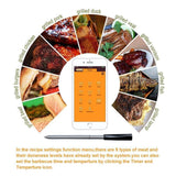 100% Wireless Digital Bluetooth BBQ Thermometer With 2 Sensors APP Control