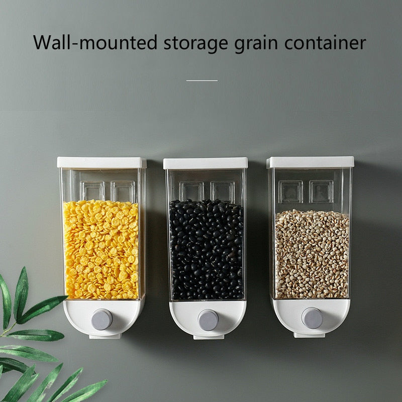 Wall-mounted storage grain