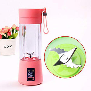 USB Rechargeable 4-Blade Electric Fruit Extractor Juice Blender