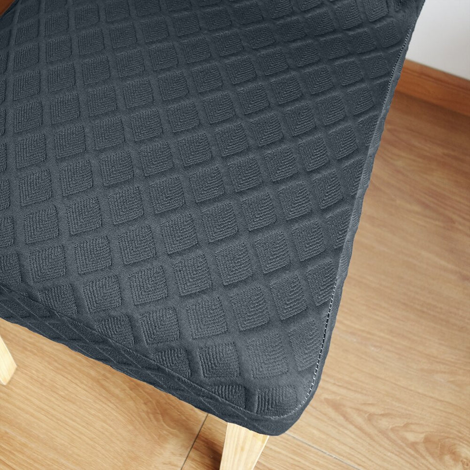 8 Solid Colors Polar Fleece Fabric Dining Seat Covers