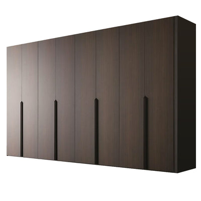 Luxury Classic Grey-Black Simple Design Wooden Wardrobe
