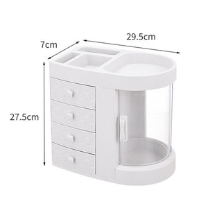 4 Drawer Large Capacity Rotatable Cosmetic Storage Box