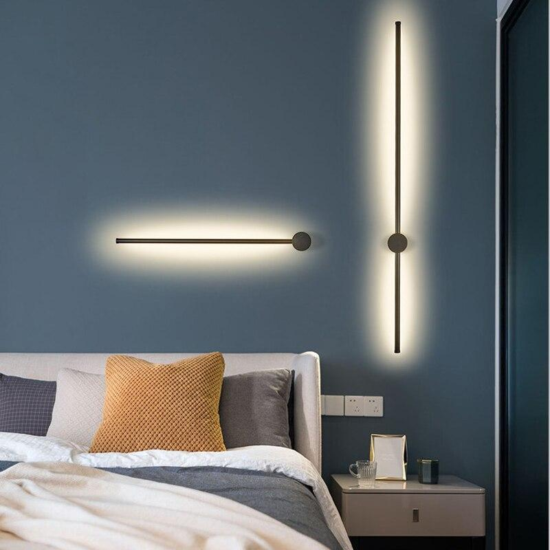 Gold/Black Modern LED Mirror wall sconce lamp fixtures