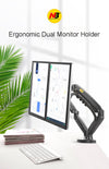 "360 Degree Gas Spring Desktop 17""-27"" Dual Monitor Holder Arm"