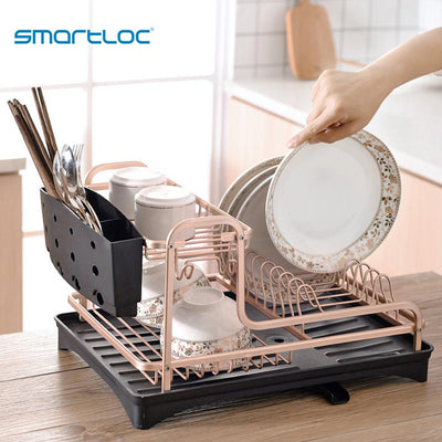 Aluminium Alloy Dish Rack rainer Drying Plate Shelf Sink