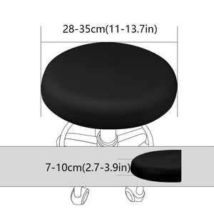 Round 9 Solid Colors Big Elastic Stretch Seat Chair Covers