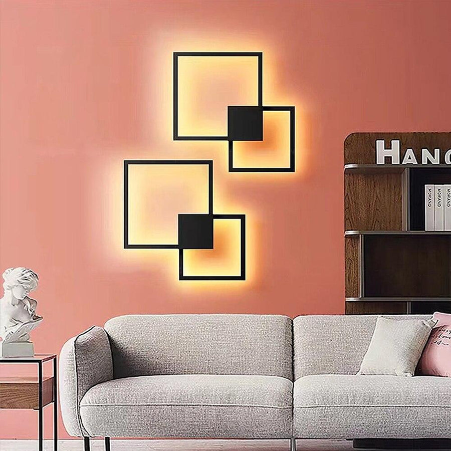 DIY wall decoration panel lamp