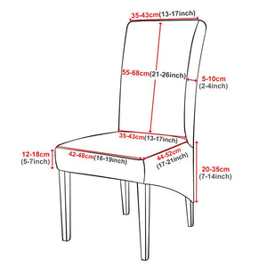 Washable XL Size  Europe Style  High Back Long Seat Chair Covers