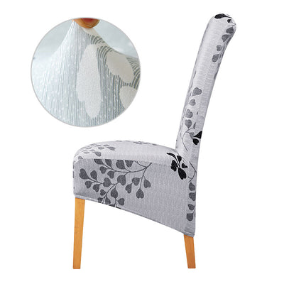 Long Back Chair Cover Big XL Size Slipcovers Europe Style High Back Seat Covers Universal Restaurant Hotel Party Banquet Home