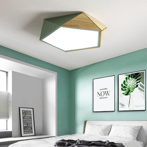 Nordic Wooden  Led Ceiling Light with Dimmable Remote Control
