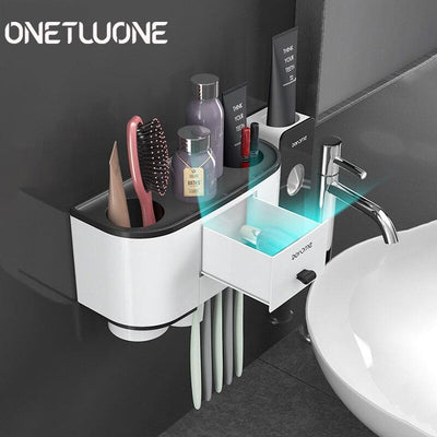 Toothbrush Storage Rack Wall Mount Bathroom Accessories Sets