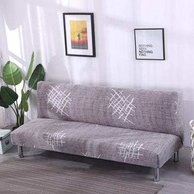 160-190cm Armless Stretch Folding Seat Sofa Bed Slipcover