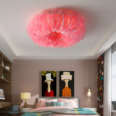 Nordic Design LED Feathers Ceiling Light