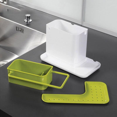 1PC Sponge Kitchen Box Draining Rack Dish Self