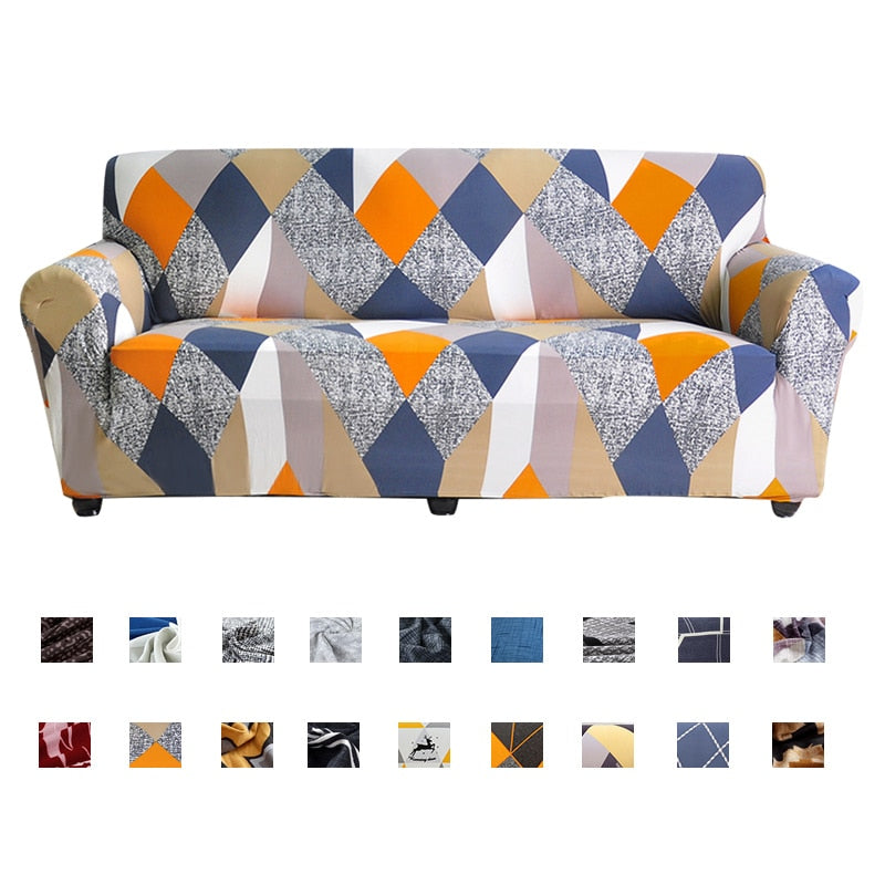 Geometric Elastic Sofa Cover for Living Room 1/2/3/4 Seater