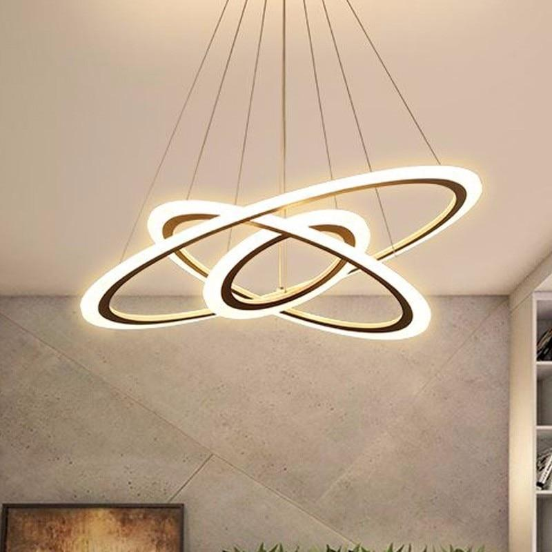 Rings Luxury Lustre Suspension Lamp With Remote Control
