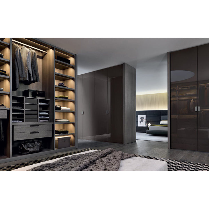 Modern U Shaped High Quality Wardrobes with LED Light Luxury Bedroom Closet