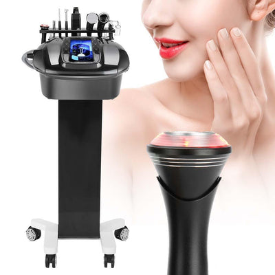 8 In 1 Ultrasonic Scrubber Cold/Hot  Beauty Face Care Machine Device